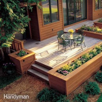 deck with planters
