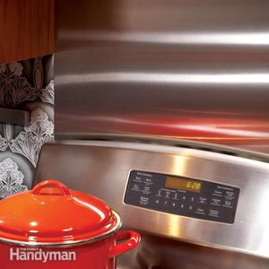 Ideas for the Kitchen: Stainless Steel Backsplash