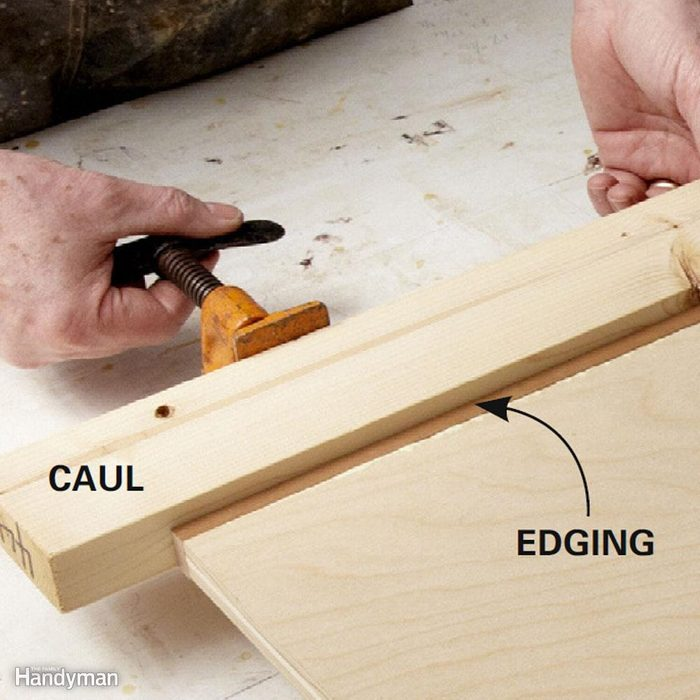 Use one caul instead of many clamps
