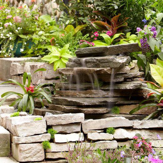 small backyard waterfall feature