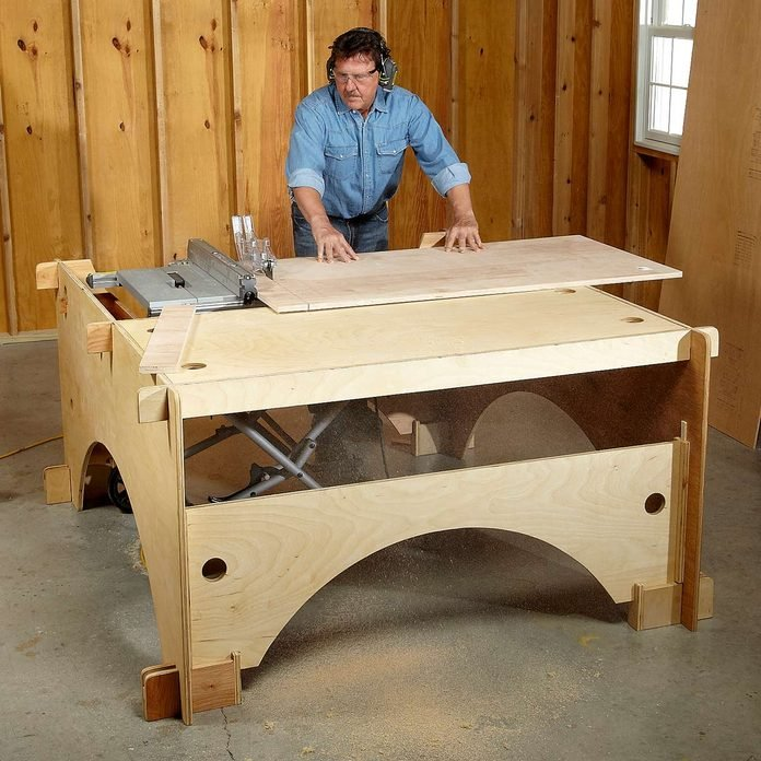 outfeed table and side support