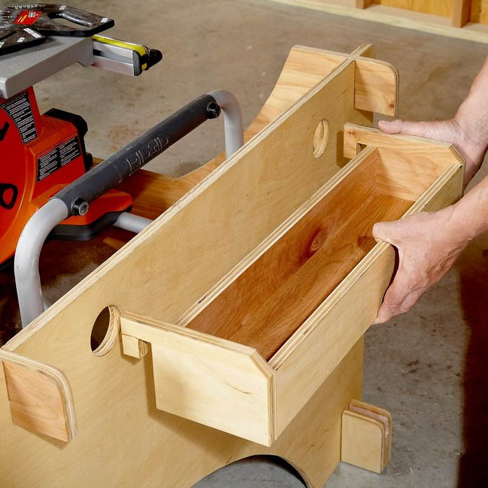 tool tray table saw table