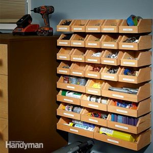 Garage Shelving Plans: Hardware Organizer