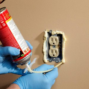 Foam Outlet Insulation Stops Cold Air Coming Through Electrical Outlets