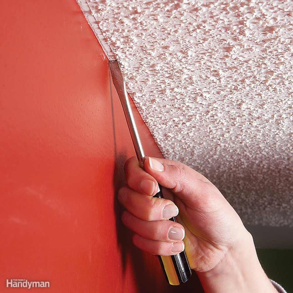 Scrape Away Ceiling Texture for a Neater Paint Job
