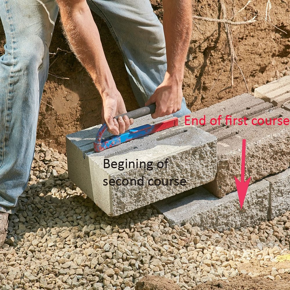 Laying the second course of block | Construction Pro Tips