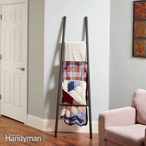 How to Make a Blanket Ladder with Dowels