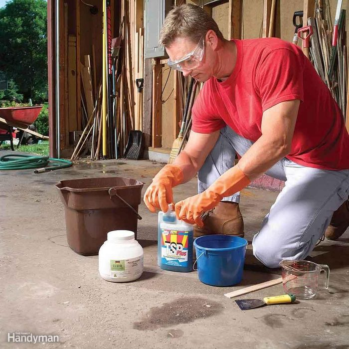 How to clean the garage floor
