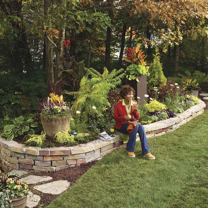 Raised Beds Offer Color and Seating