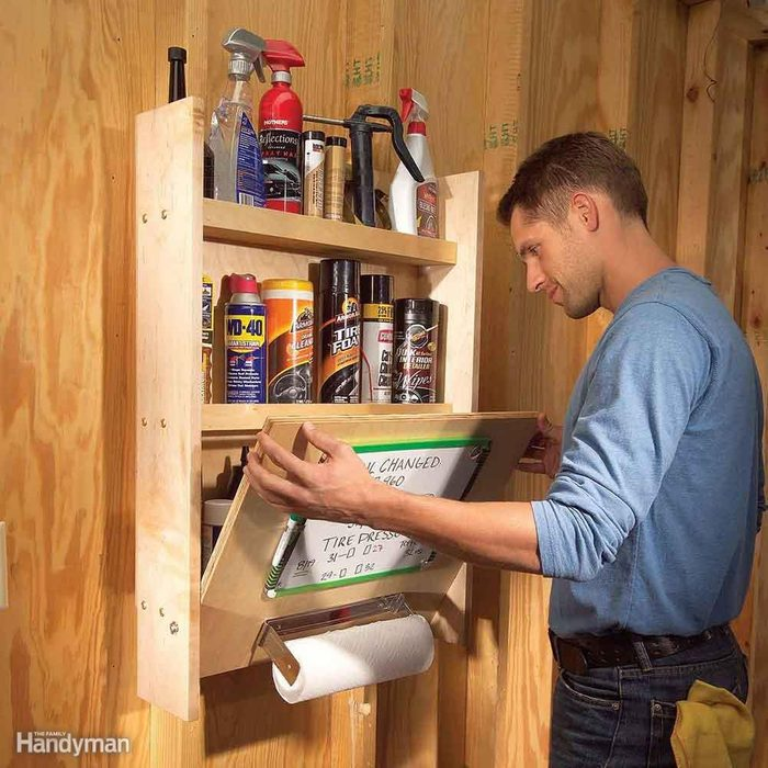 Car care products cabinet
