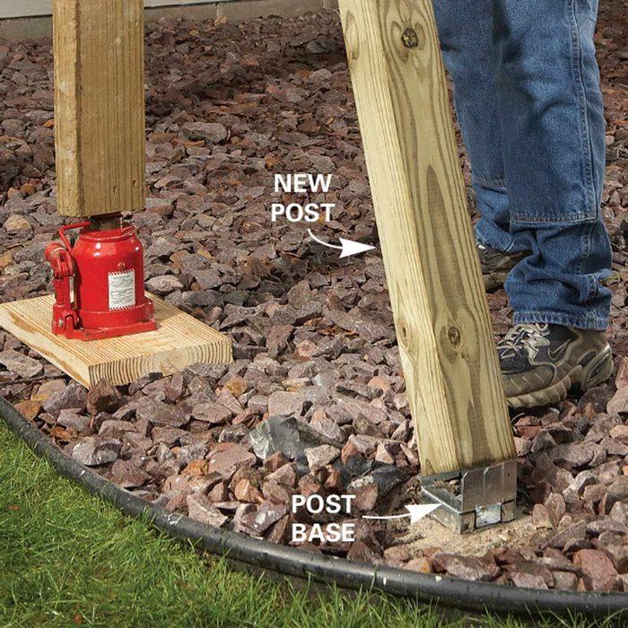 Problem 3: Rotten Deck Posts, Install the New Post