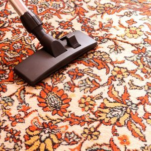 vacuuming area rug