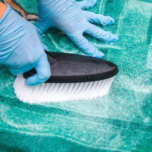 scrubbing area rug