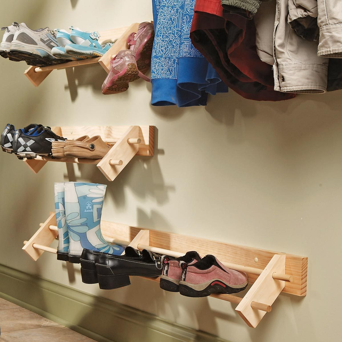 DIY shoe organizer storage