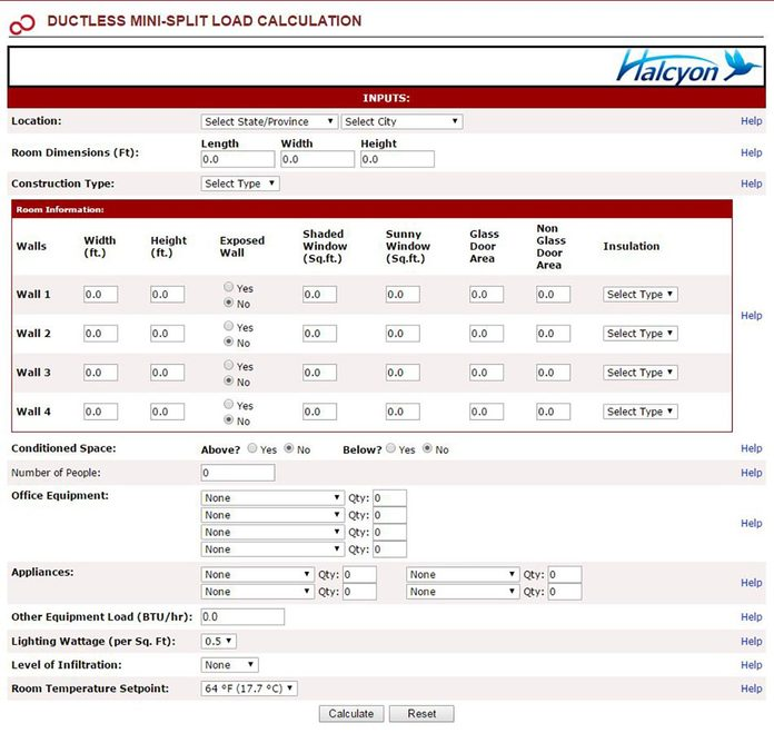 A screen showing the calculation of a mini-split load | Construction Pro Tips