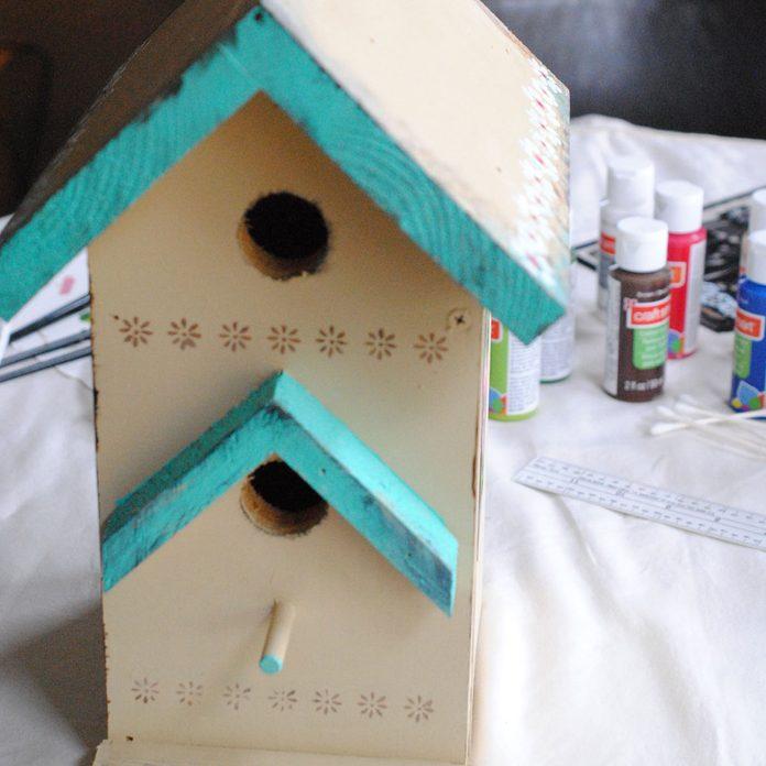 tole-painted birdhouse borders