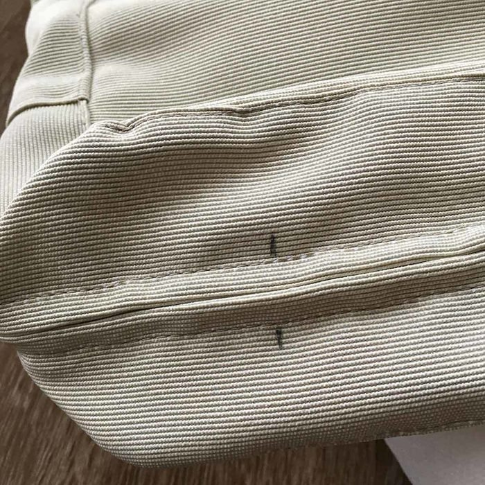 Mark hole locations in your IKEA patio cushions