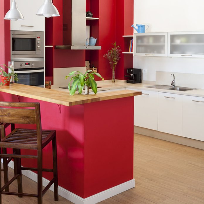 bold red kitchen kitchen cabinets colors