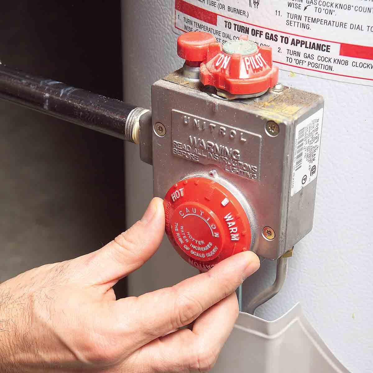 adjust water heater heat