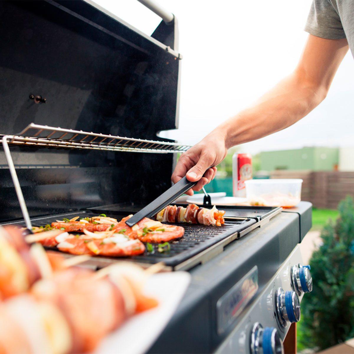 grill grilling hamburgers and kebabs