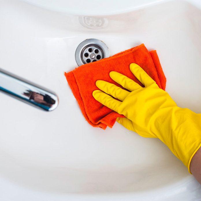 Simple Soft Scrub clean white sink