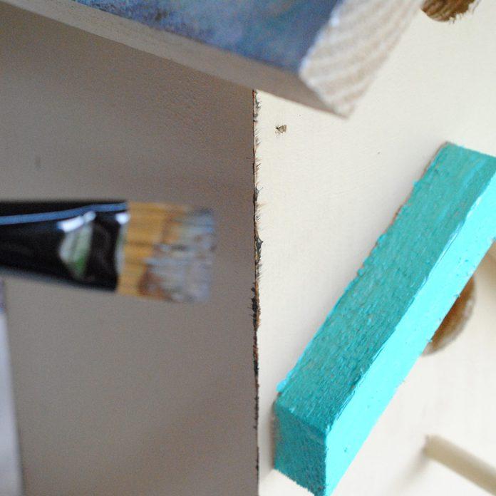 tole-painted birdhouse edges