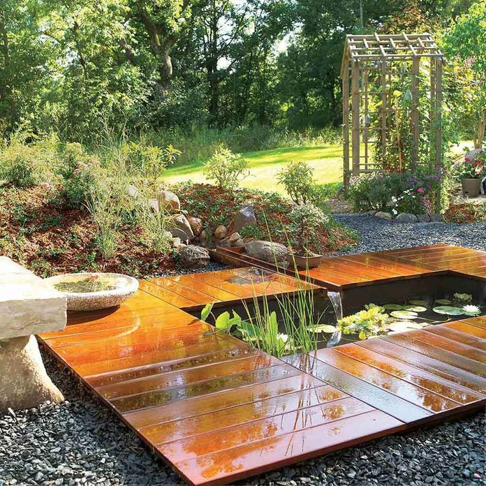 Peaceful Pond and Deck