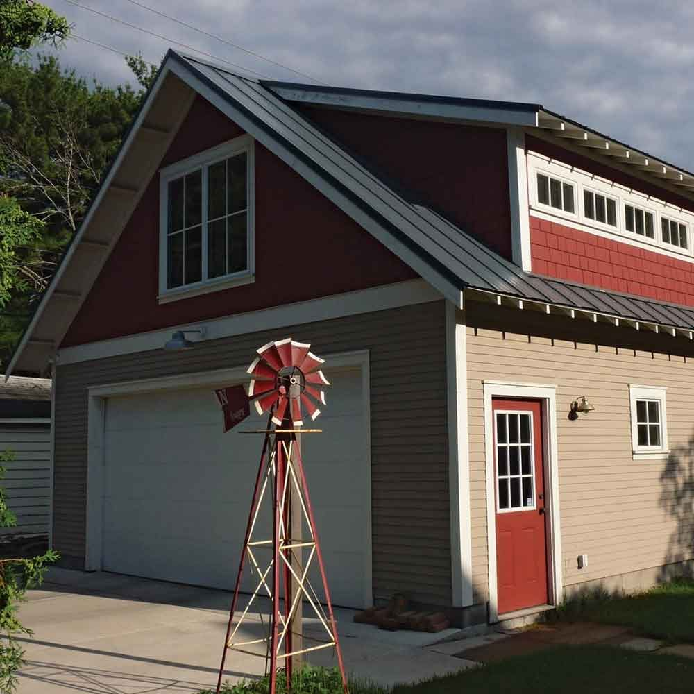 Shed dormers add second-floor headroom