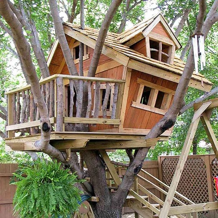 DIY Treehouse Building Tip 4: Level the floor