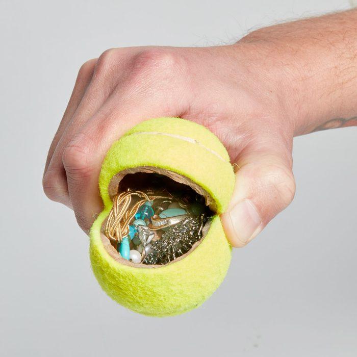 Slit Open a Tennis Ball