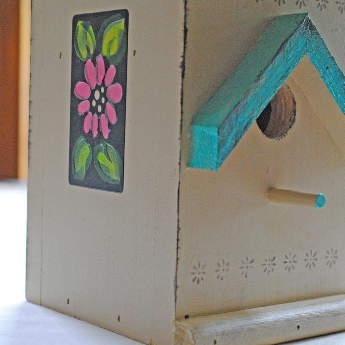 tole-painted birdhouse