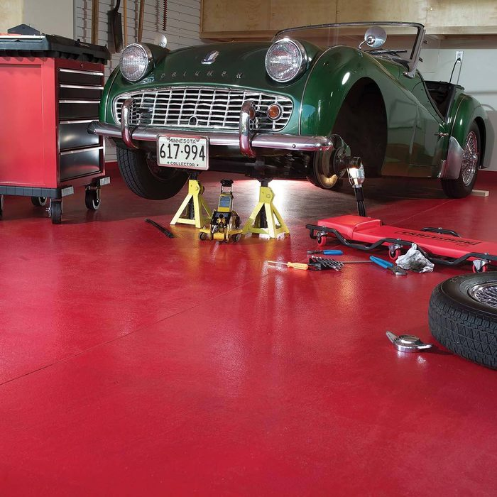 Paint the garage floor