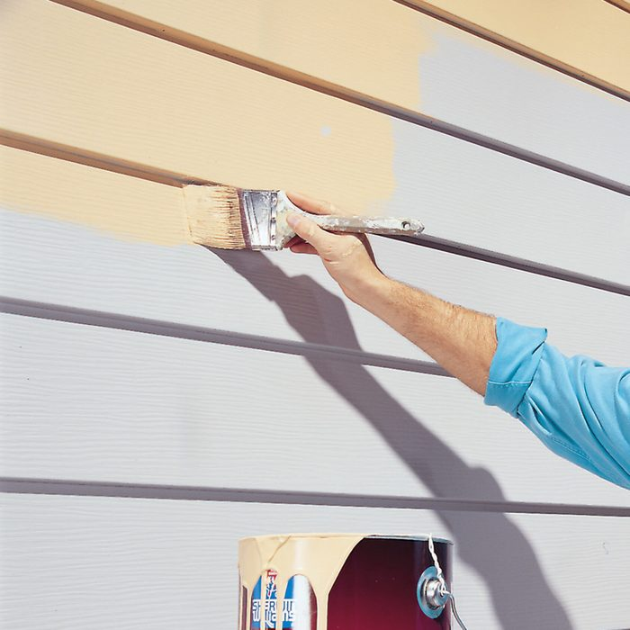 Paint aluminum siding
