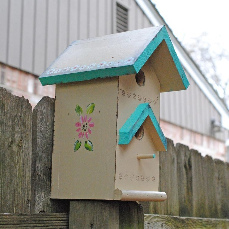 tole painting birdhouse finished