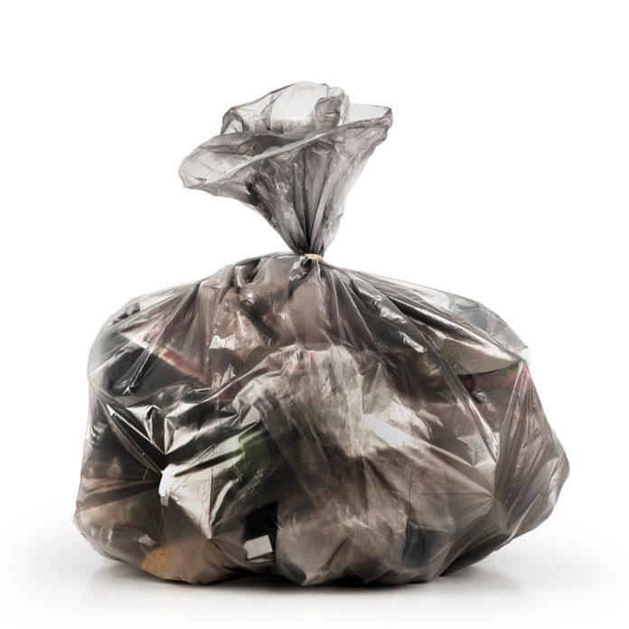 garbage bag tied