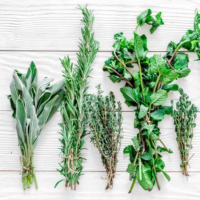 bundle herbs with floss