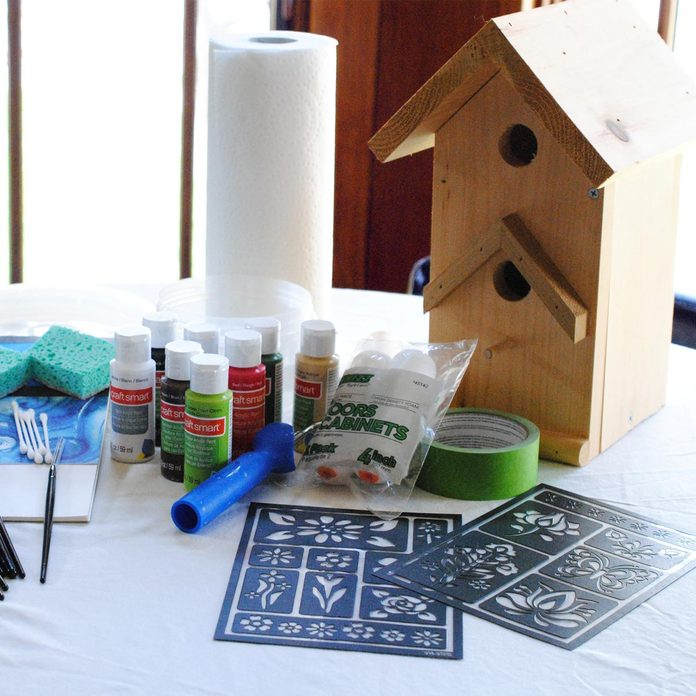ole painting birdhouse supplies