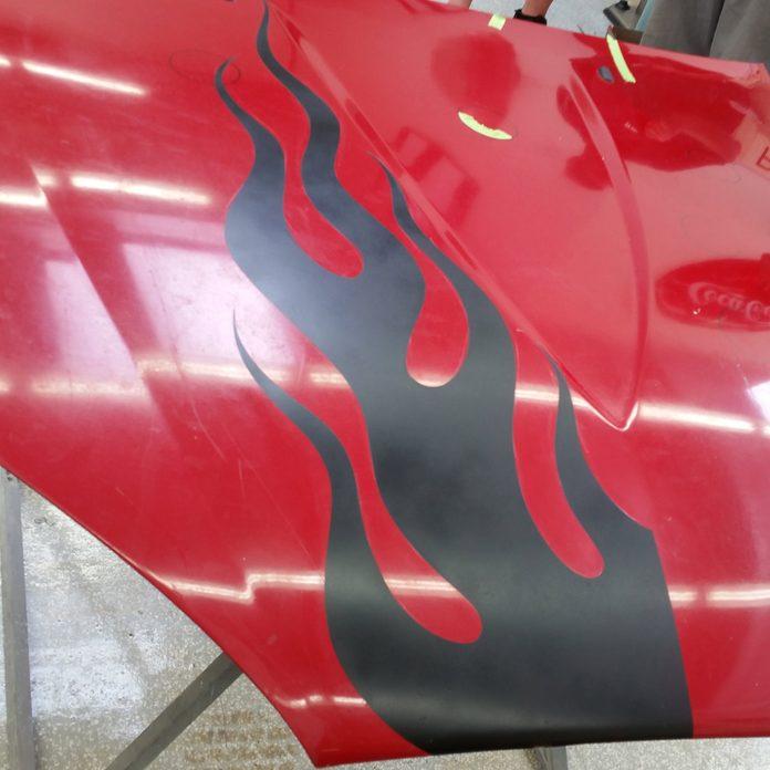 car flames