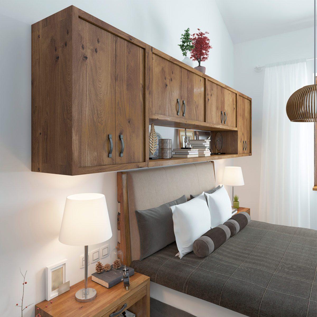 DIY headboard: Hidden Storage