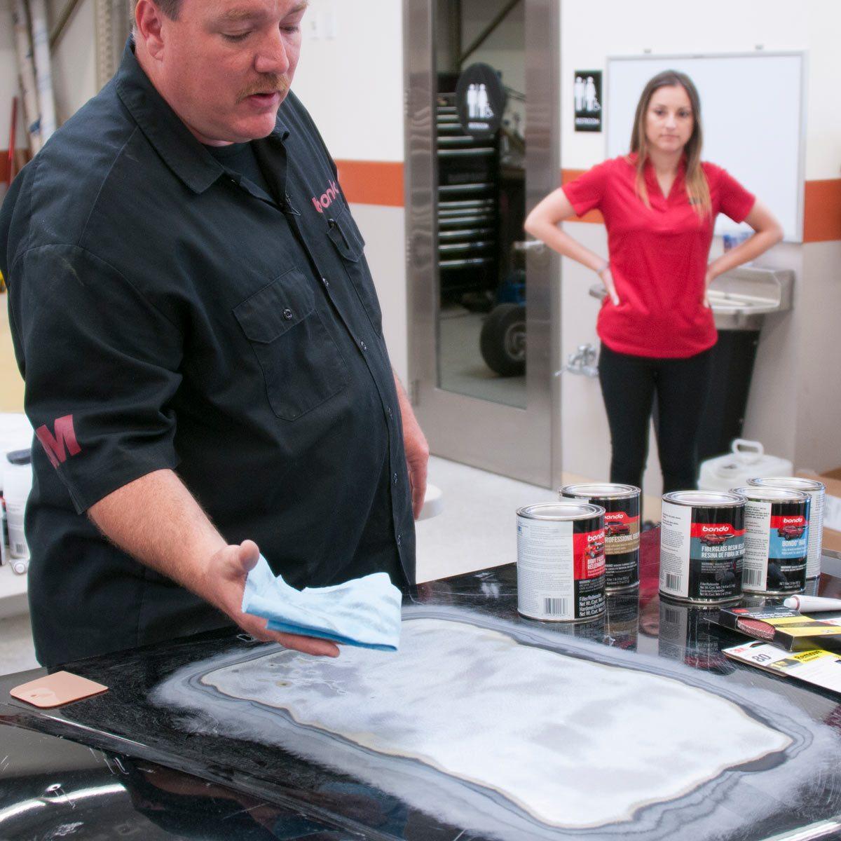 automotive car dent fix prep