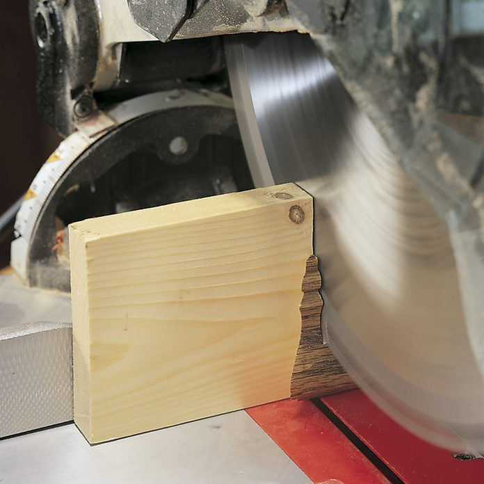 miter cuts on small boards