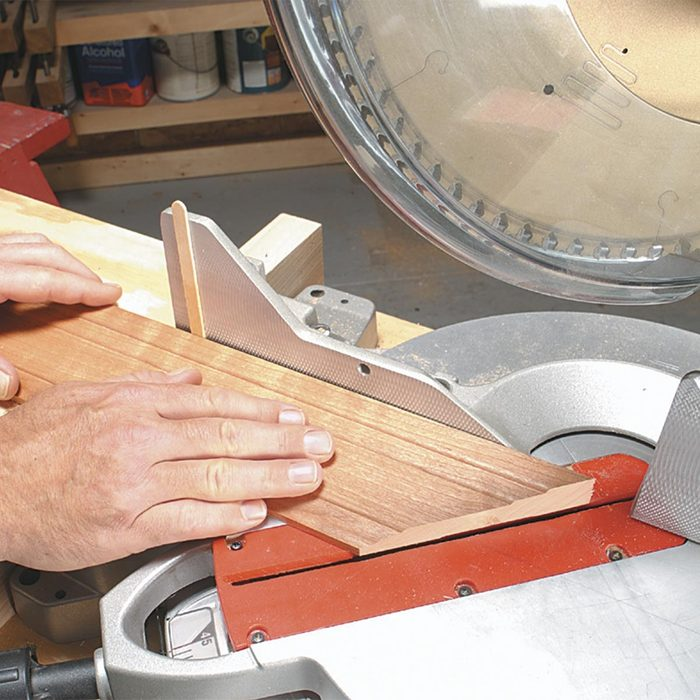Use Shims to Shave Miters