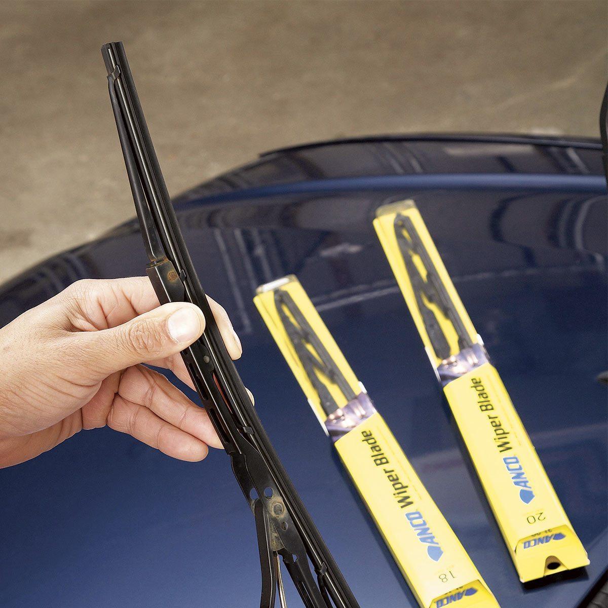 Worn windshield wipers