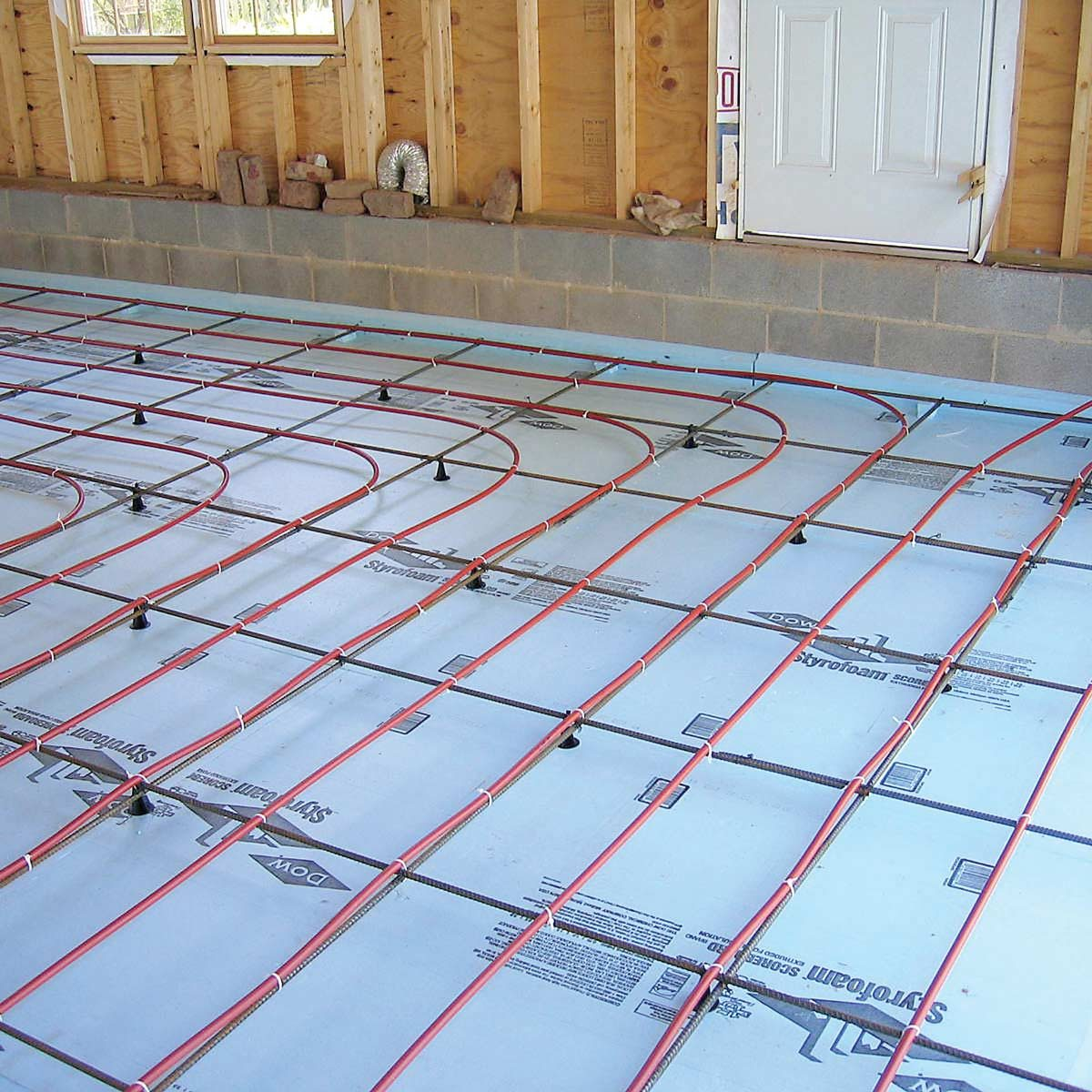garage with in floor heat heated floors