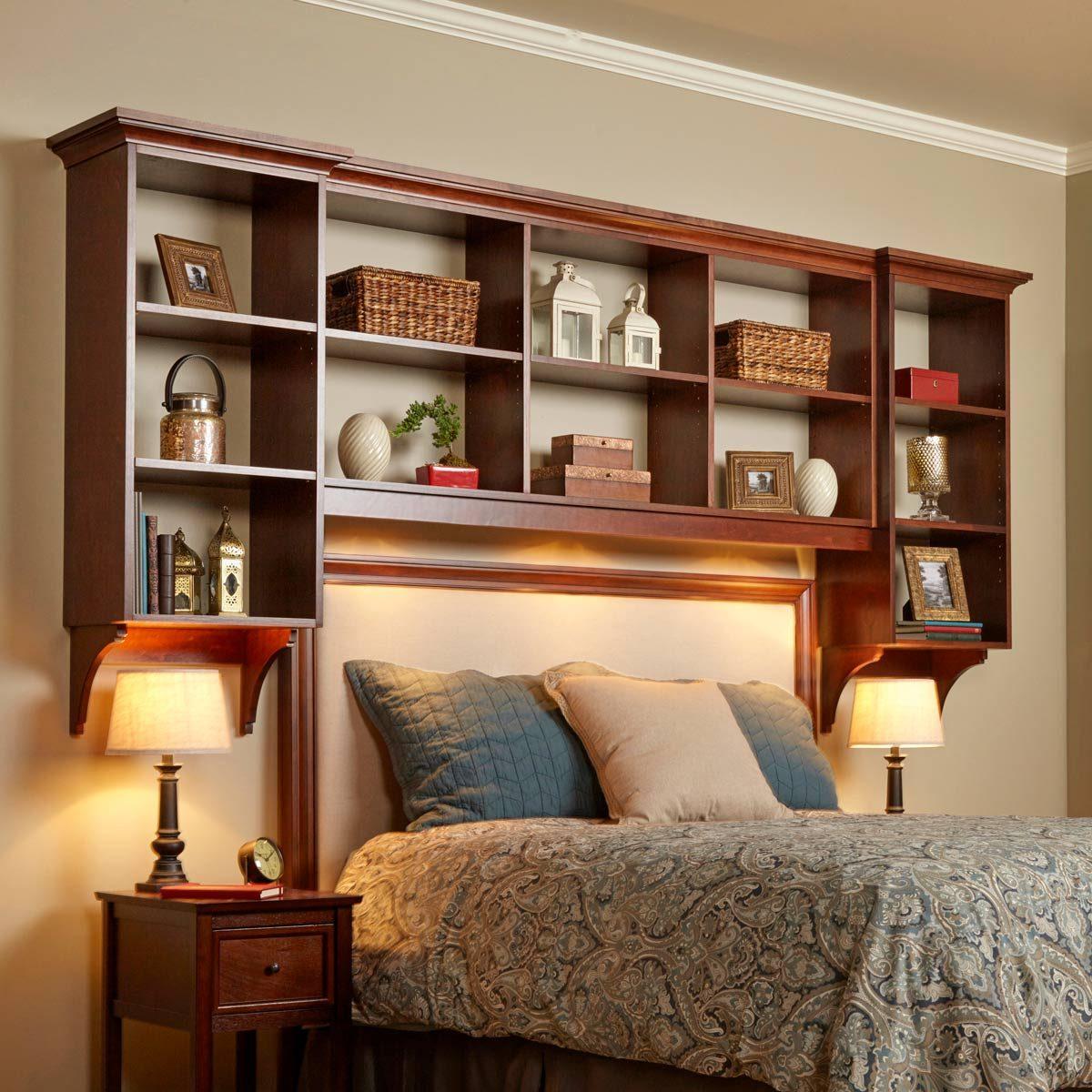 DIY Bed Built-in Shelves