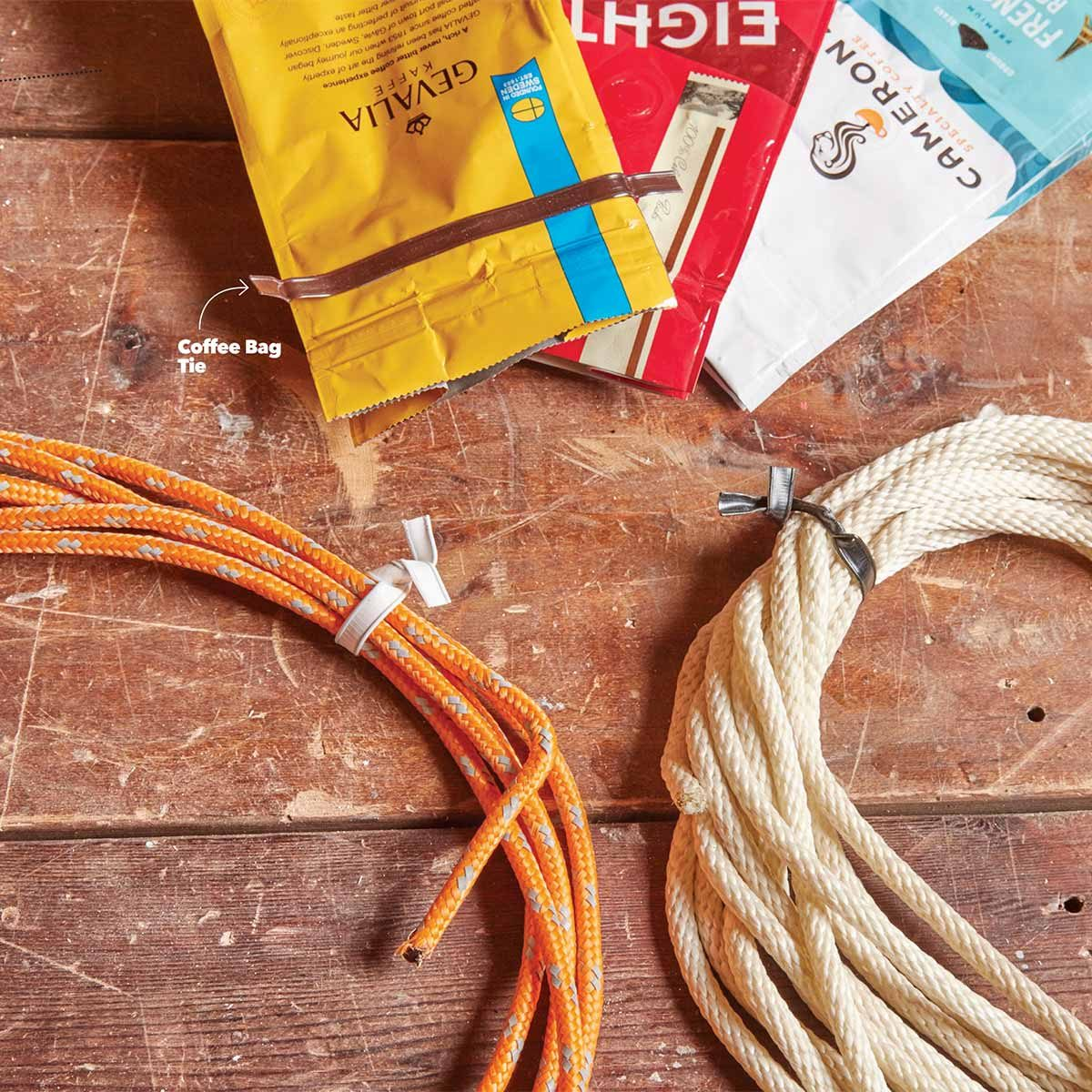 Coffee bag twist ties