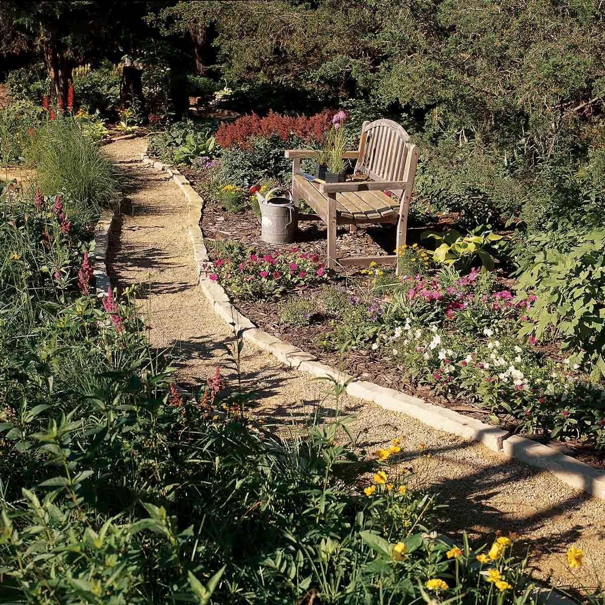 winding gravel path walkway idea