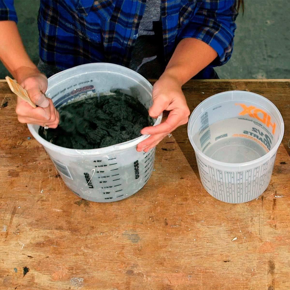 air plant planter mix concrete with paint stick
