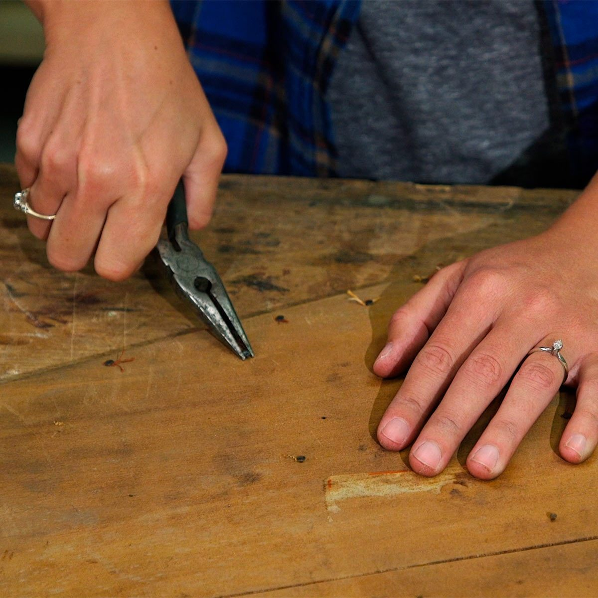 remove old upholstery tacks