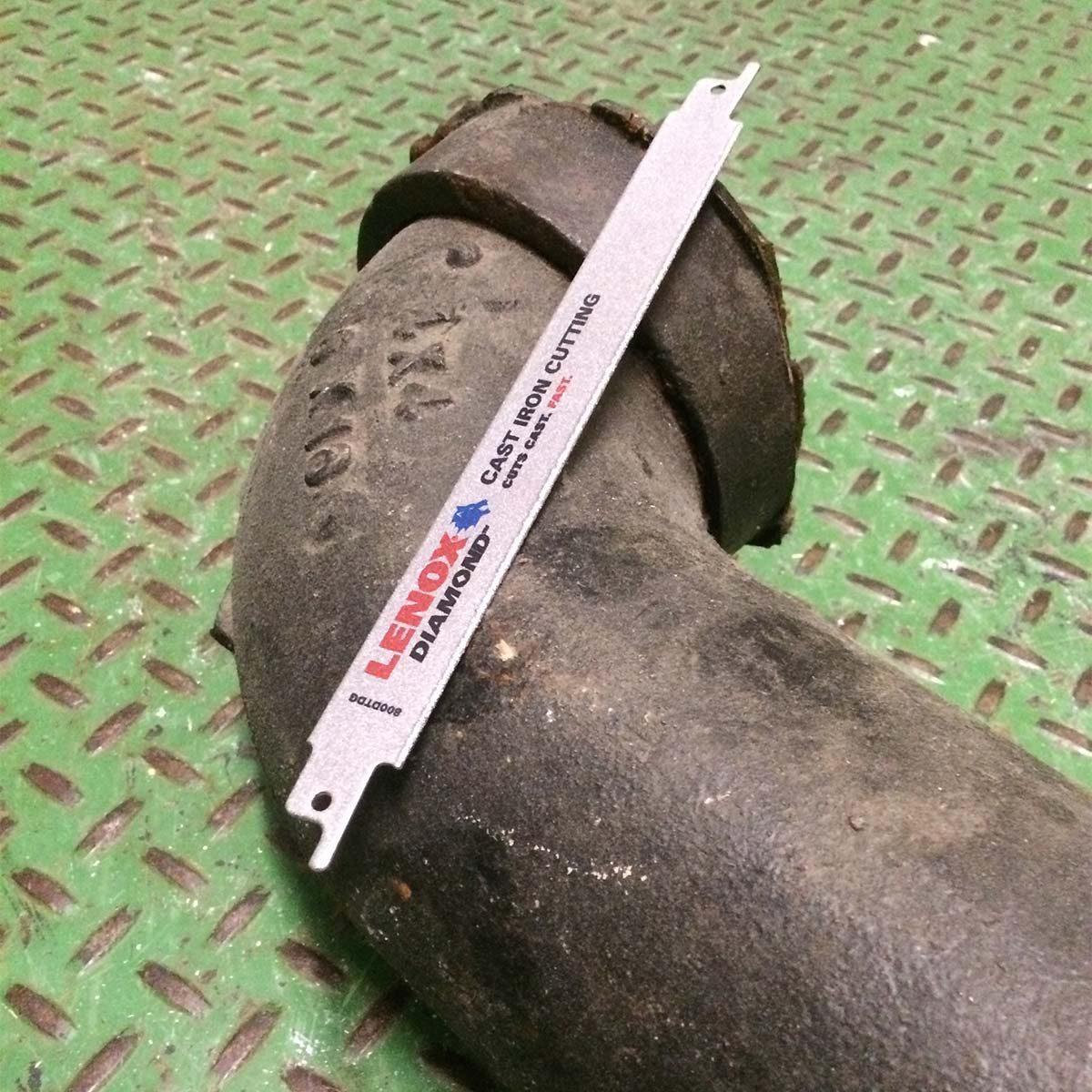 cutting cast iron pipe, diamond blade